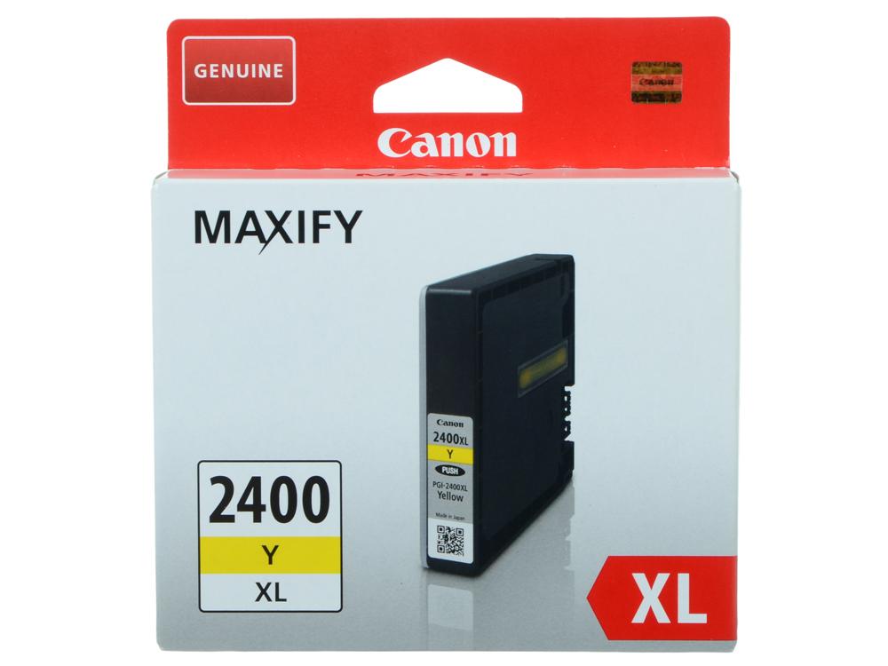 Картридж Canon PGI-2400XL Y для MAXIFY iB4040, МВ5040 и МВ5340. Желтый. 1520 страниц. canon pgi 2400xl m