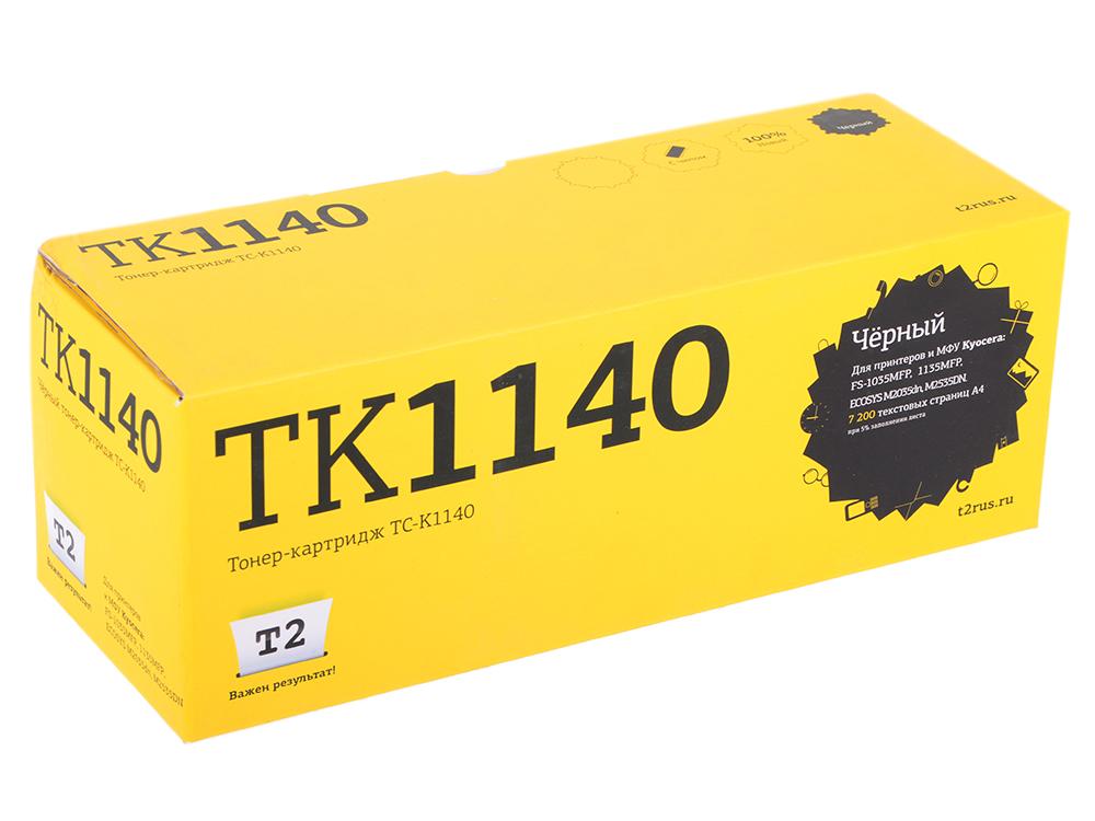 Тонер-картридж T2 TC-K1140 (TK-1140) с чипом тонер картриджt2
