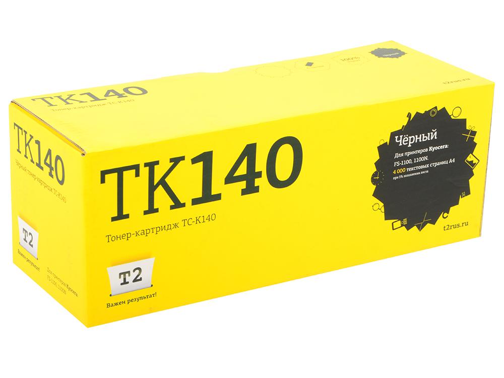 Картридж T2 TC-K140 (TK-140) черный (black) 4000 стр для Kyocera FS-1100/FS-1100N картридж kyocera tk 3100 для fs 2100d fs 2100dn черный 12500стр