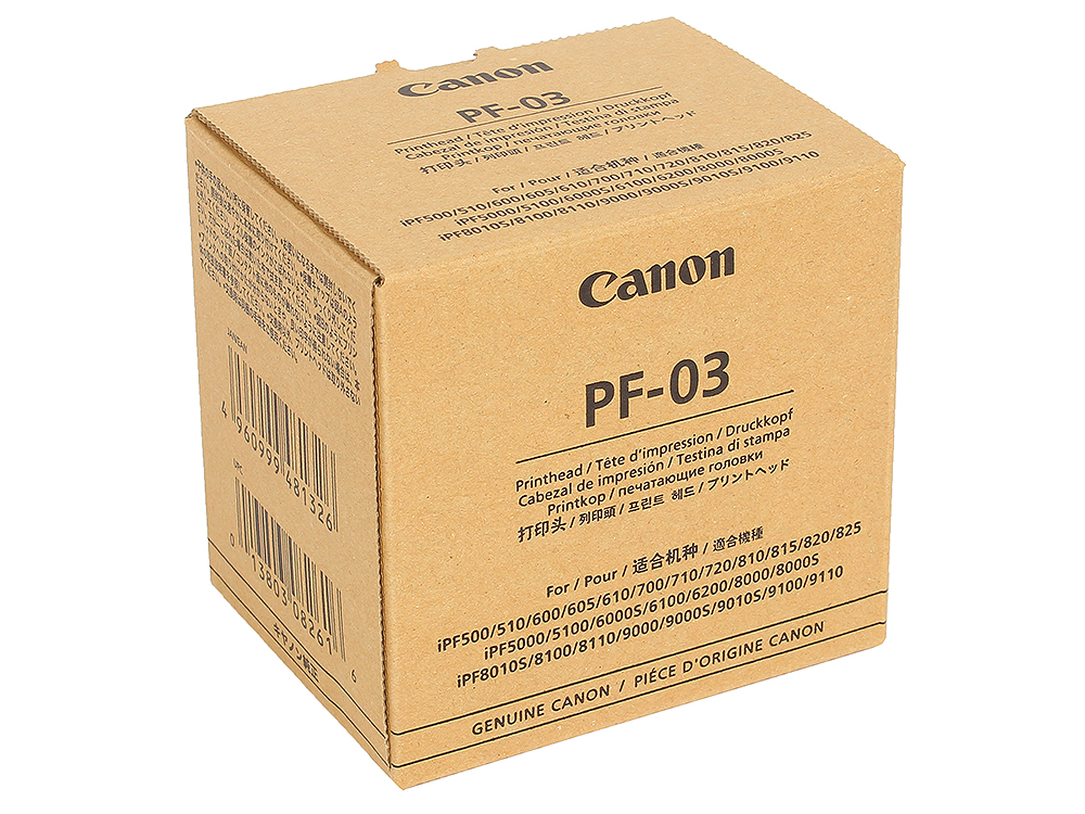 Печатающая головка Canon PF-03 для iPF 510/605/610/815/825/5100. цена в Москве и Питере