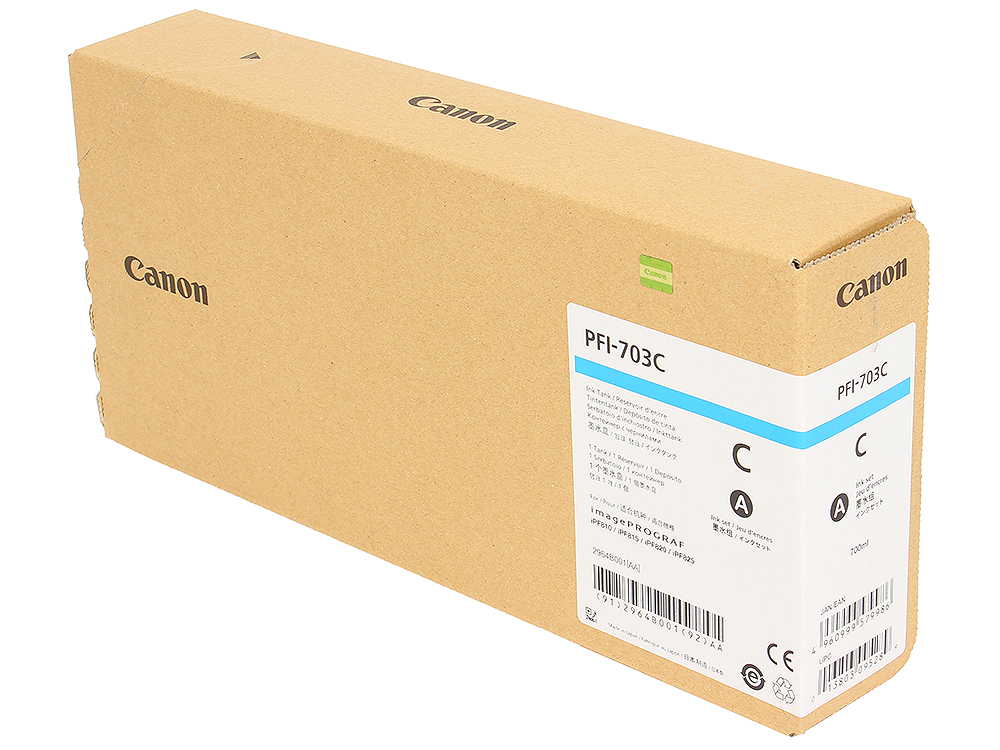 Картридж Canon PFI-703 C для плоттера iPF815/825. Голубой. 700 мл. цены