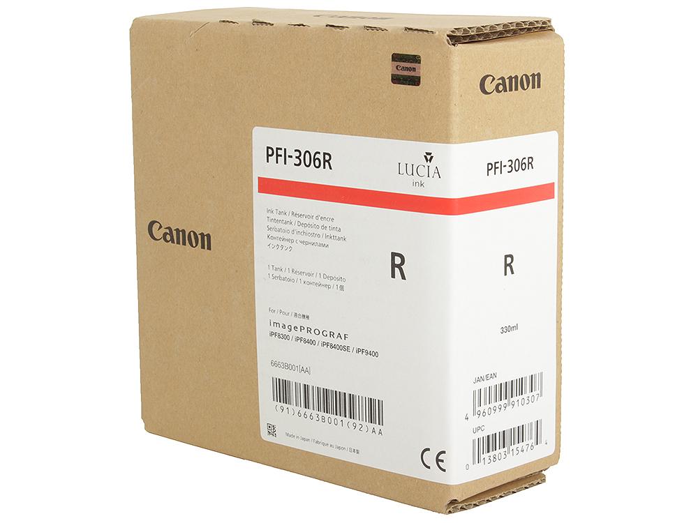 Картридж Canon PFI-306 R для плоттера iPF8400SE/8400/9400. Красный. 330 мл. картридж canon pfi 706 r для ipf8300 8300s 8400 9400s 9400 красный
