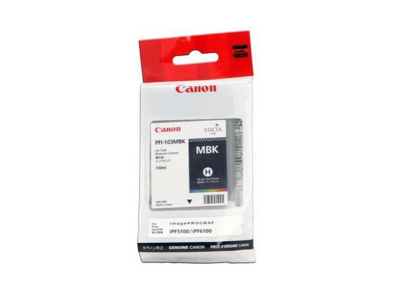 Картридж Canon PFI-103 MBK для плоттера iPF5100. Матовый чёрный. картридж canon pfi 103 pgy для плоттера ipf5100 фото серый