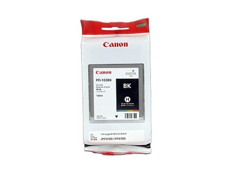 Картридж Canon PFI-103 BK для плоттера iPF5100. Чёрный. картридж canon pfi 103 pgy для плоттера ipf5100 фото серый