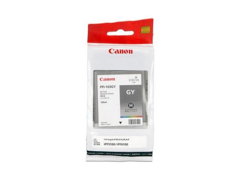 Картридж Canon PFI-103 GY для плоттера iPF5100. Серый. картридж canon pfi 103 pgy для плоттера ipf5100 фото серый