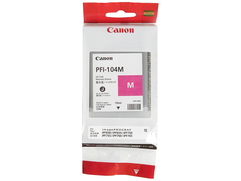 Картридж Canon PFI-104 M для плоттера iPF750. Пурпурный. картридж canon pfi 306 pm для ipf8300s 8400 9400s 9400 фото пурпурный