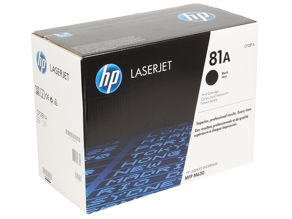 Картридж HP CF281A для LaserJet Enterprise MFP M630. Черный. 10500 страниц. (81A) hp laserjet enterprise 700 mfp m725f cf067a