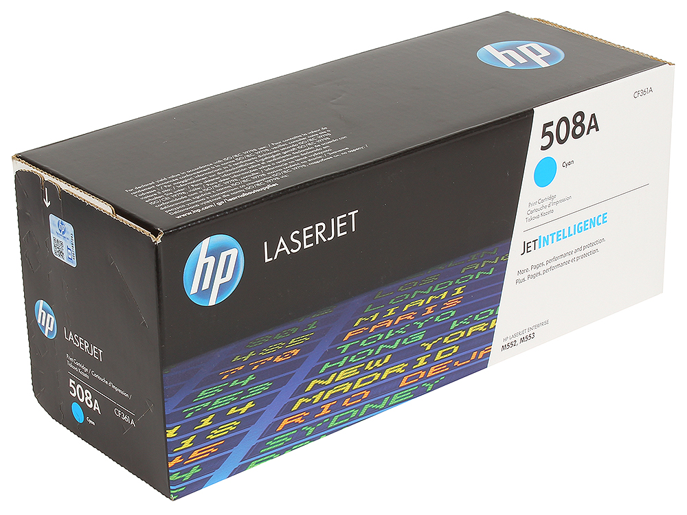 Картридж HP CF361A для LaserJet Enterprise M553.Голубой. 5000 страниц. (508A) hp 508a cf360a black