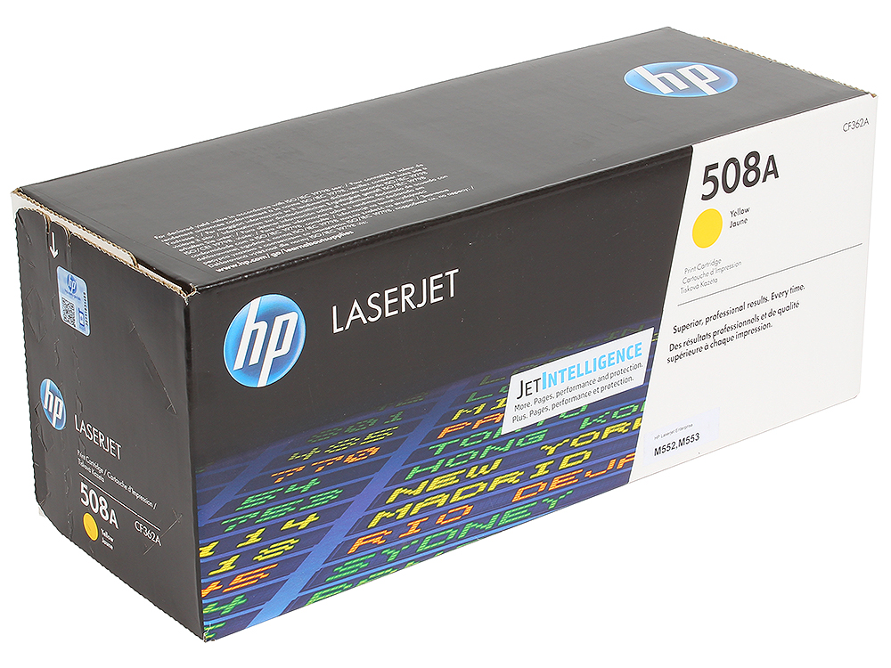 Картридж HP CF362A для LaserJet Enterprise M553.Жёлтый. 5000 страниц. (508A) hp 508a cf360a black