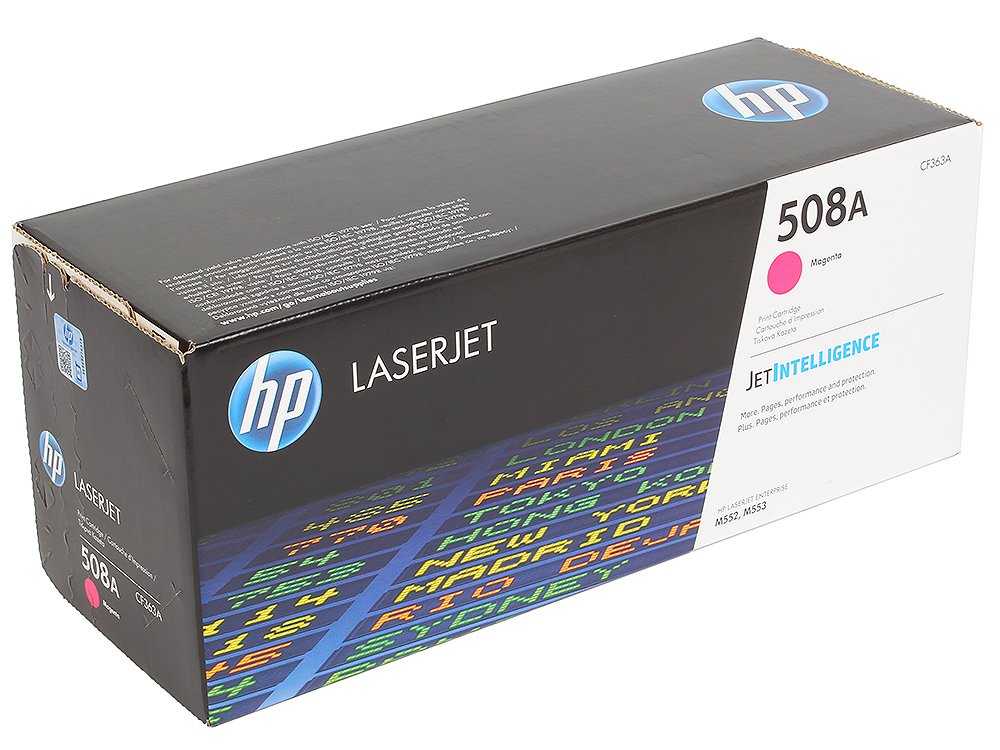 Картридж HP CF363A для LaserJet Enterprise M553. Пурпурный. 5000 страниц. (508A) hp 508a cf360a black