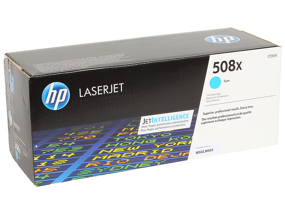 цена на Картридж HP CF361X для LaserJet Enterprise M553.Голубой. 9500 страниц. (508X)