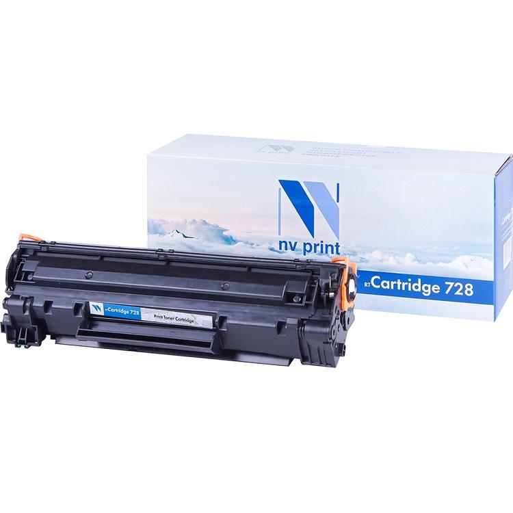 Картридж NV-Print совместимый Canon 728 для MF4580dn/4570dn/4550dn/4450/4430/4410/HP LJ Р1566/Р1606W/ Черный. 2100 страниц. картридж nv print cc533a canon 718 magenta для нewlett packard lj color cp2025 2800k