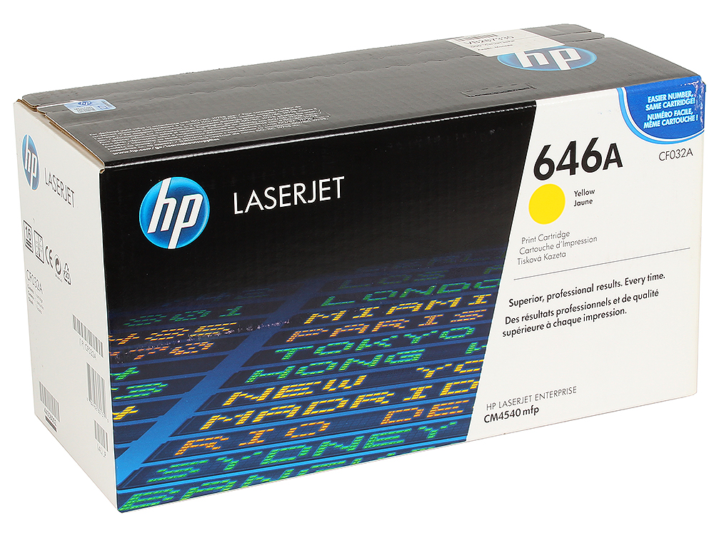 Картридж HP CF032A для LaserJet CM4540 MFP, Жёлтый. 12 500 страниц. картридж hp cf031a для laserjet cm4540 mfp голубой 12 500 страниц