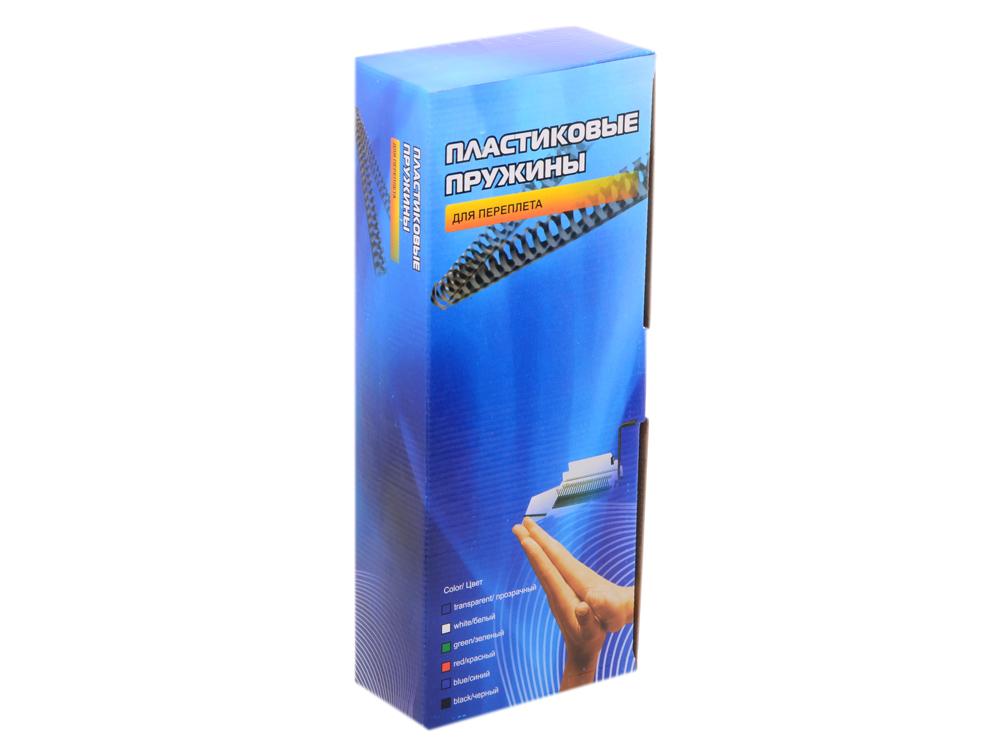 Пластиковые пружины 10 мм (50-70 листов) черные 100 шт. Office Kit (BP2020) цена в Москве и Питере