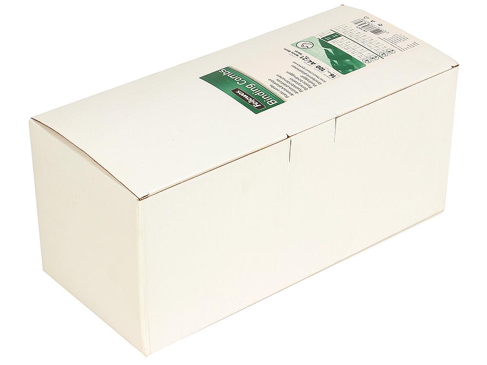 Пружина пластиковая Fellowes, 16 мм. Цвет: белый, 100 шт, шт decomaster белый матовый цвет 16 55х33х2900 мм 198 16
