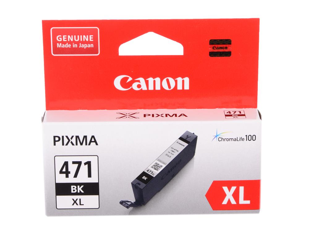Картридж Canon CLI-471XL BK для MG5740, MG6840, MG7740. Чёрный. 810 страниц. оплетка руля autoprofi luxury ap 810 с плетеными вставками цвет черный серый размер m 38 см ap 810 bk bk gy m