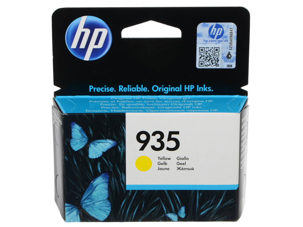 Картридж HP C2P22AE для МФУ HP Officejet Pro 6830 e-All-in-One(E3E02A), принтер HP Officejet Pro 6230 ePrinter E3E03A). Жёлтый. 400 страниц. (HP 934)
