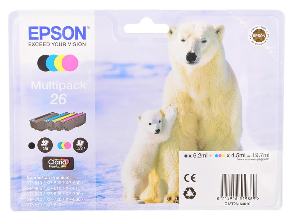 все цены на Картридж Epson Original T261640 комплект для XP-600/XP-700/XP-800 онлайн