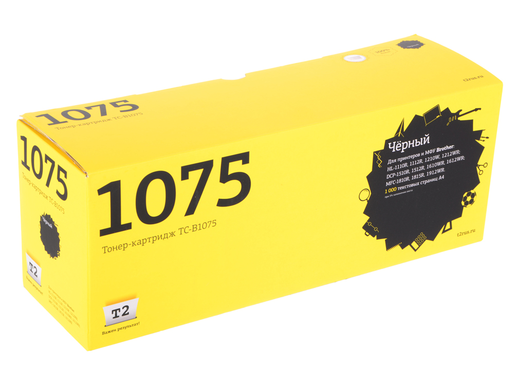 Картридж T2 TC-B1075 (TN-1075) для Brother HL-1110R/DCP1510R/MFC1810 (1000 стр.) ucan toner cartridge compatible brother hl 1100 1110e 1110r hl1110 hl 1110 laser printer tn 1000 1075 tn 1000 tn 1075