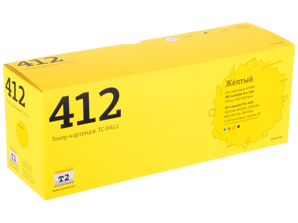 Картридж T2 TC-H412 (CE412A) желтый цена