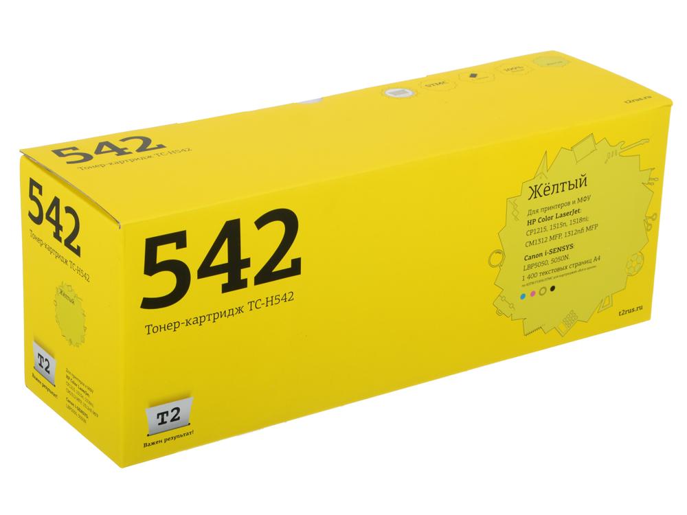 Картридж T2 TC-H542 (CB542A) для HP Color LaserJet CP1215/CP1515n/Canon 716Y (1400 стр.) Желтый, с чипом