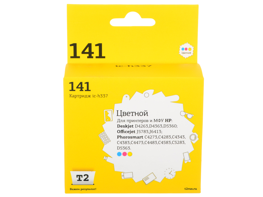 Картридж T2 IC-H337 №141 (CB337HE) цветной цена