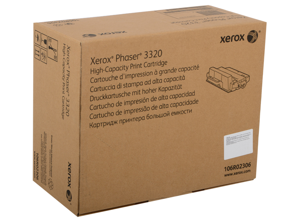 Картридж Xerox 106R02306 для Phaser 3320. Чёрный. 11000 страниц. Print-cartridge hi-cap for PH 3320 цена в Москве и Питере