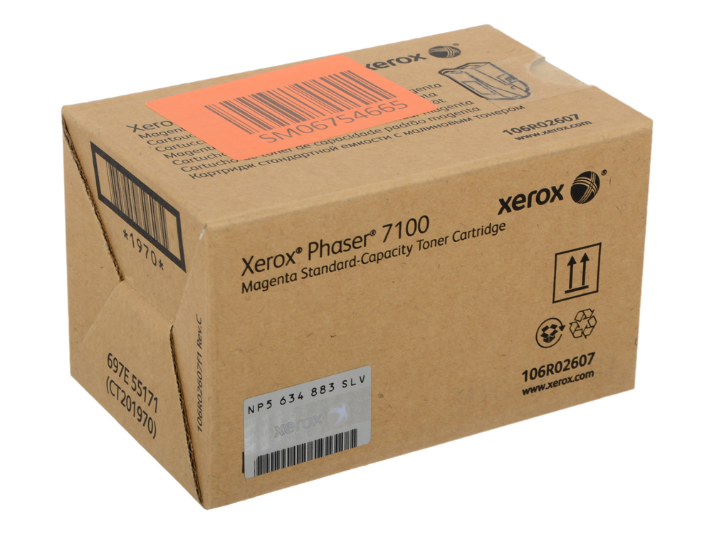 Картридж Xerox 106R02607 Phaser 7100 Standard Capacity Magenta Toner Cartridge one set toner chip for xerox phaser 6700 printer cartridge refill reset 106r01503 106r01506 free shipping