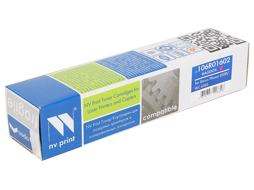 Тонер-картридж NV-Print совместимый Xerox Phaser WorkCentre 106R01602 MAGENTA 2 500 к. картридж nv print 106r02183 для xerox phaser 3010 workcentre 3045 2300стр