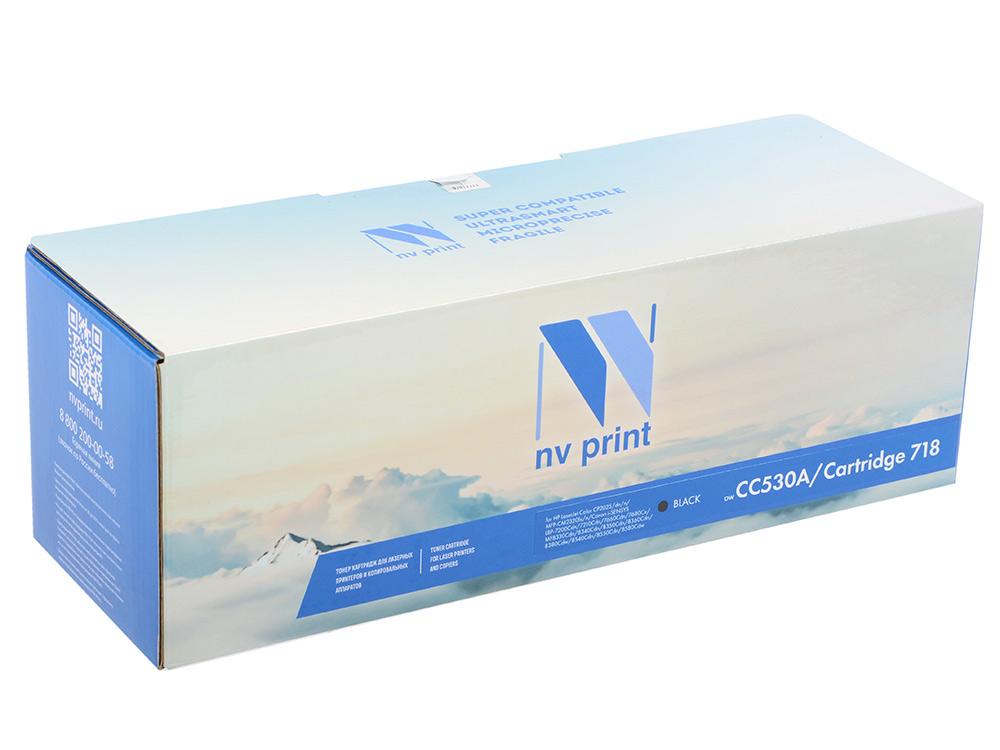 Картридж NV-Print совместимый HP CC530A/Canon 718 BLACK для LJ Color CP2025/CM2320/Canon i-SENSYS LBP-7200C/MF8330C/8350C (3500k) тонер картридж hp cc530a black для lj cp2025 cm2320 3 500 стр