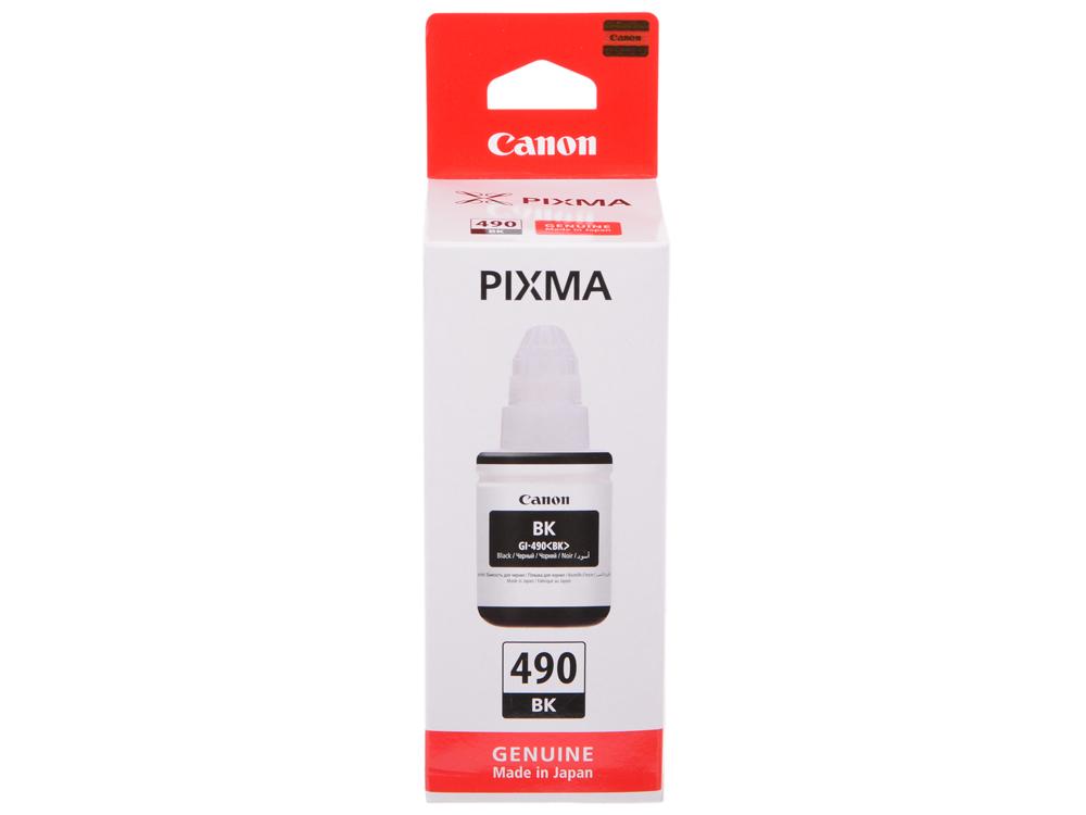 Картридж Canon GI-490 BK для G1400/G2400/G3400. Чёрный. 6000 страниц. принтер g1400
