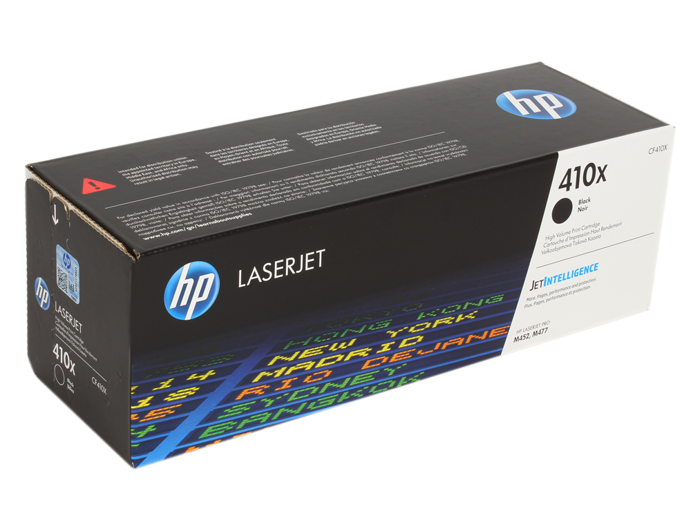 Картридж HP CF410X для Color LaserJet Pro M452/MFP M477/M377dw. Чёрный. 6500 страниц.