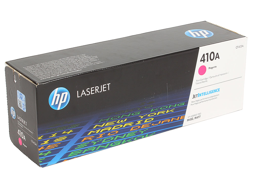 Картридж HP CF413A для Color LaserJet Pro M452/MFP M477/M377dw. Пурпурный. 2300 страниц.