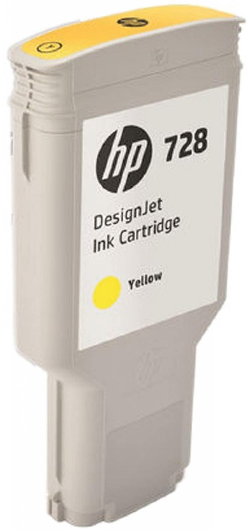 Картридж HP F9K15A (HP 728) для DesignJet T730, T830. Жёлтый. 300 мл. hp designjet t830 36 f9a30a