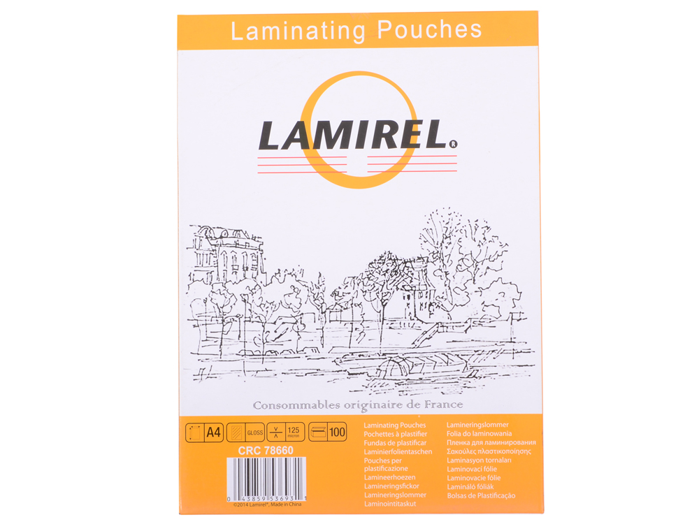 Плёнка для ламинирования Lamirel A4 (LA-78660) 216x303 мм, 125 мкм, глянцевая, 100 шт. lpd 2319 la mi la a4