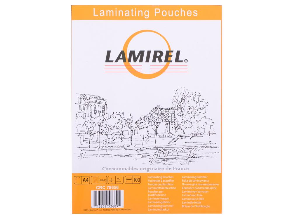 Плёнка для ламинирования Lamirel A4 (LA-78656) 216x303 мм, 75 мкм, глянцевая, 100 шт. lpd 2319 la mi la a4