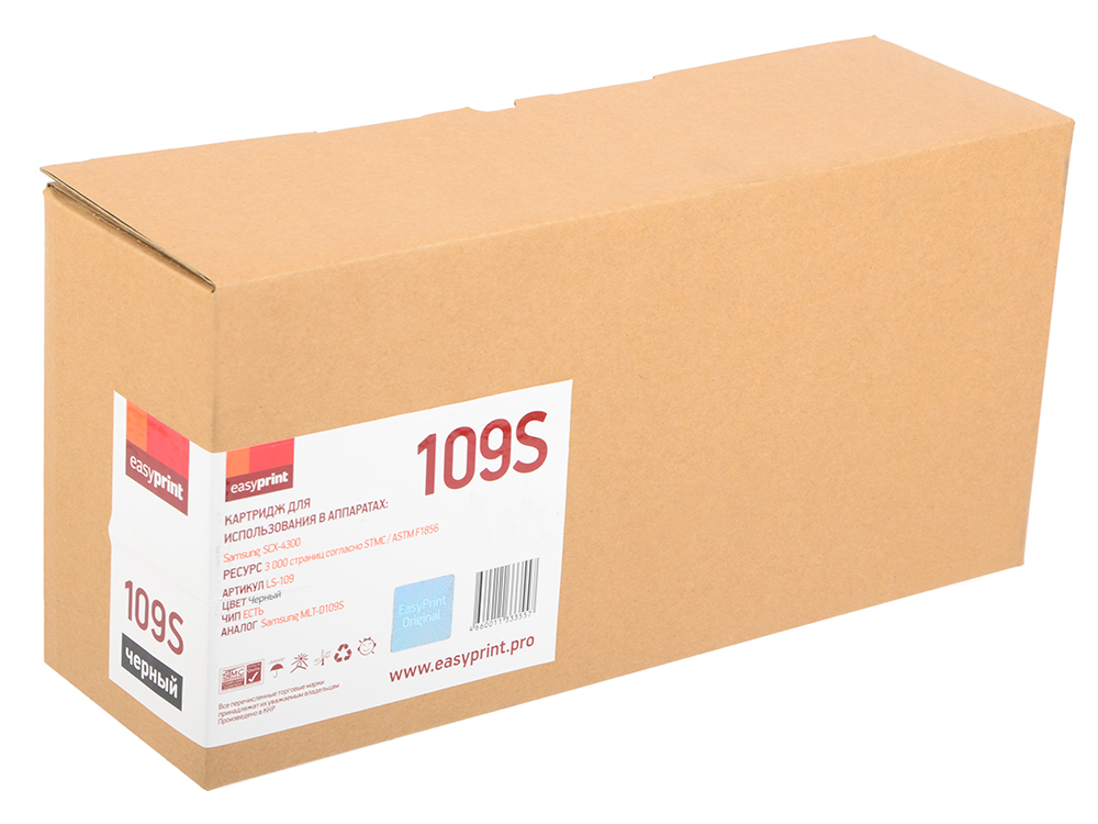 Картридж EasyPrint LS-109 Чёрный 3000 страниц для Samsung SCX-4300 картридж для принтера easyprint ls 105l black