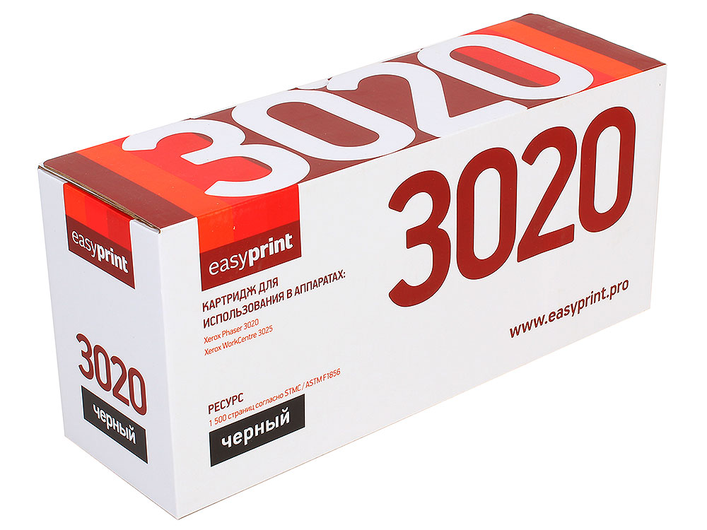 Картридж EasyPrint LX-3020 для Xerox Phaser 3020/WorkCentre 3025. Чёрный. 1500 страниц. с чипом (106R02773) картридж easyprint lx 3020 для xerox phaser 3020 workcentre 3025 чёрный 1500 страниц с чипом 106r02773