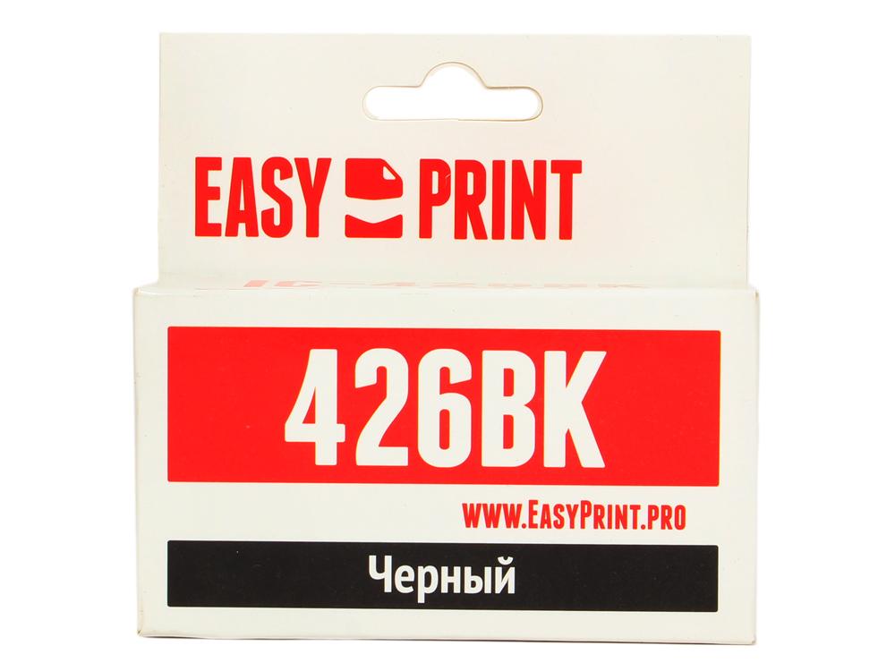 Картридж EasyPrint IC-CLI426BK для Canon PIXMA iP4840/MG5140/MG6140/MX884. Чёрный. с чипом картридж easyprint cli426gy для canon pixma mg6140 mg6240 mg8140 mg8240 серый ic cli426gy