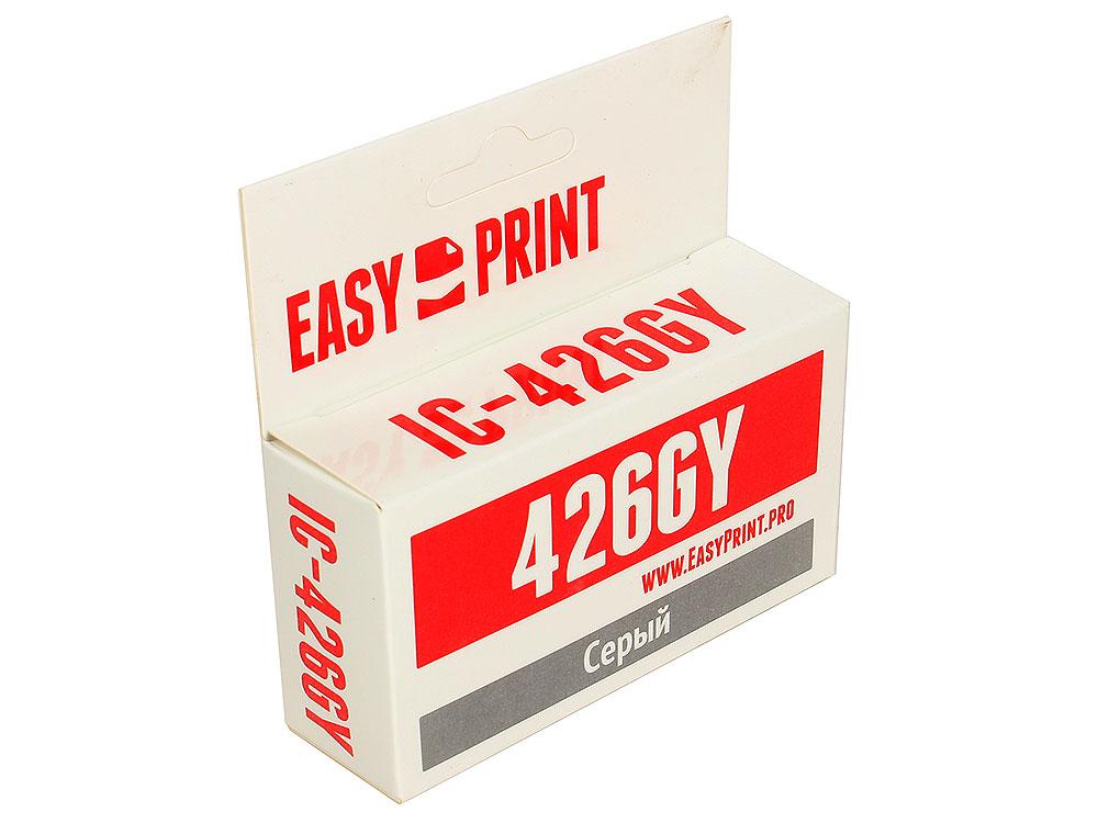 Картридж EasyPrint IC-CLI426GY для Canon PIXMA MG6140/MG6240/MG8140/MG8240. Серый. с чипом картридж easyprint cli426gy для canon pixma mg6140 mg6240 mg8140 mg8240 серый ic cli426gy