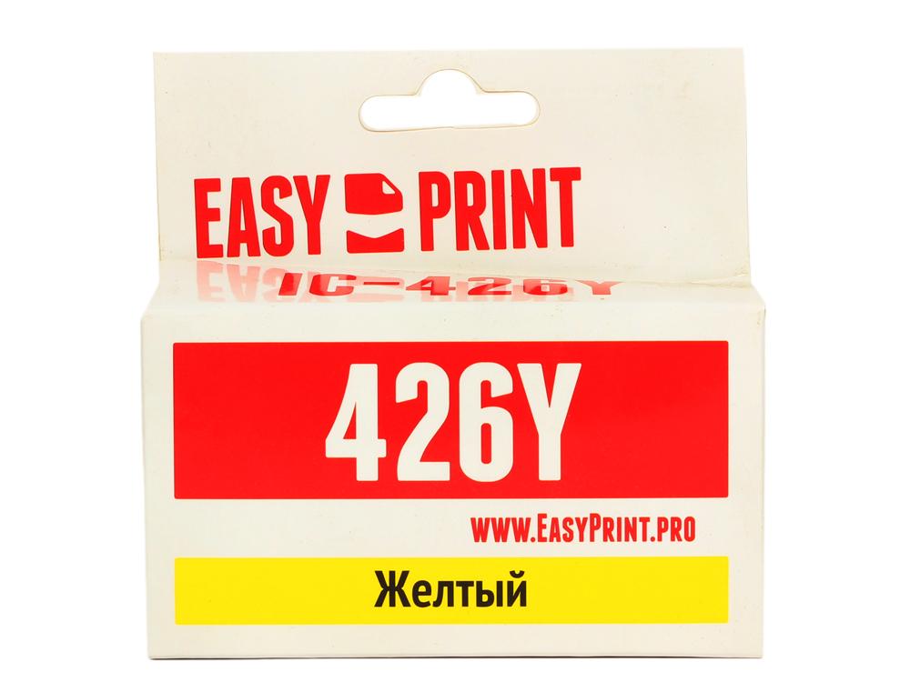 Картридж EasyPrint IC-CLI426Y для Canon PIXMA iP4840/MG5140/MG6140/MX884. Желтый. с чипом картридж easyprint ic cli521bk для canon pixma ip4700 mp540 620 980 mx860 черный с чипом картридж easyprint ic cli521bk для canon pixma ip4700 mp540