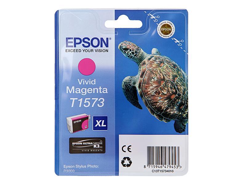 Картридж Epson C13T15734010 для Stylus Photo R3000 Magenta Пурпурный 850стр картридж original epson [t034340] для epson stylus photo 2100 magenta