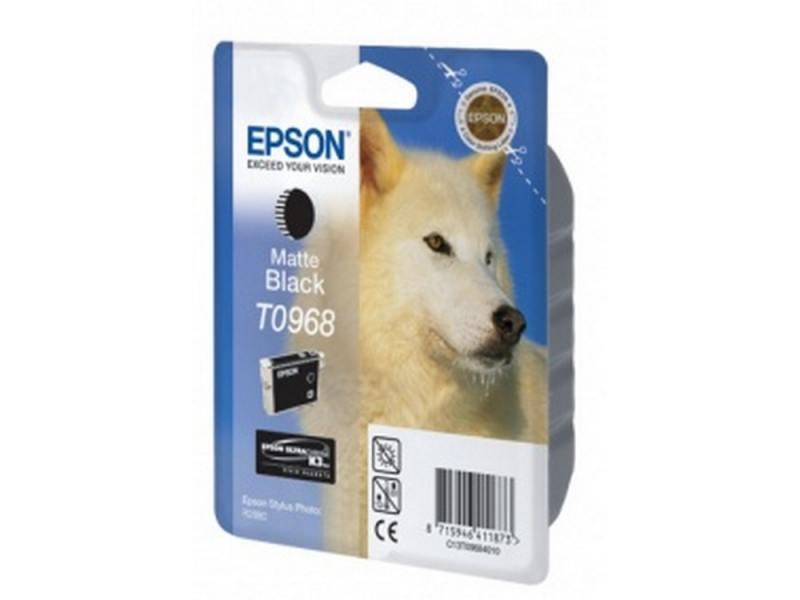 Картридж Epson C13T09684010 T0968 для Epson Stylus Photo R2880 матовый черный чернильный картридж epson t0922