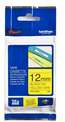цена на Лента Brother TZe-FX631 желтый (yellow) 8 м для Brother PT 1010/1280/D200/D210/H105/H110/E100/E110