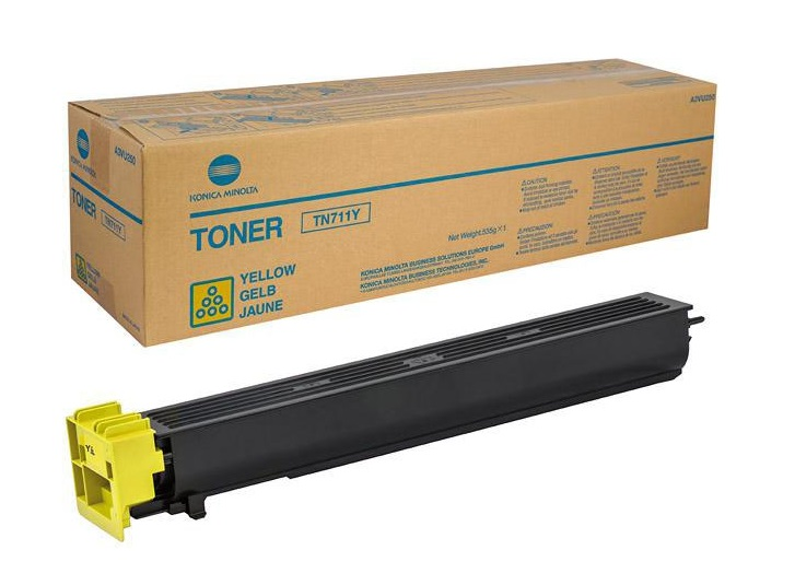 Тонер Konica Minolta TN-711Y для bizhab C654/C754 желтый konica minolta тонер tn 216m a11g351
