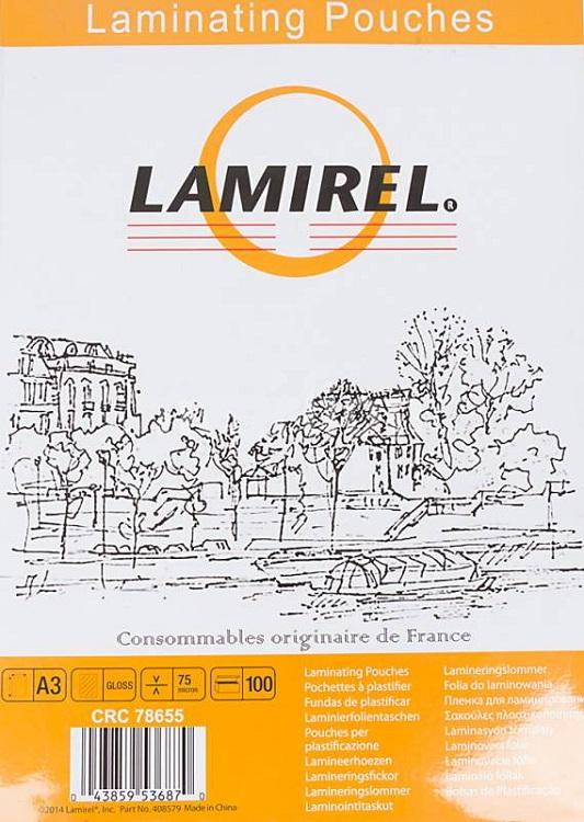 Пленка для ламинирования Fellowes LA-78655 A3 75мкм 100шт цена 2017