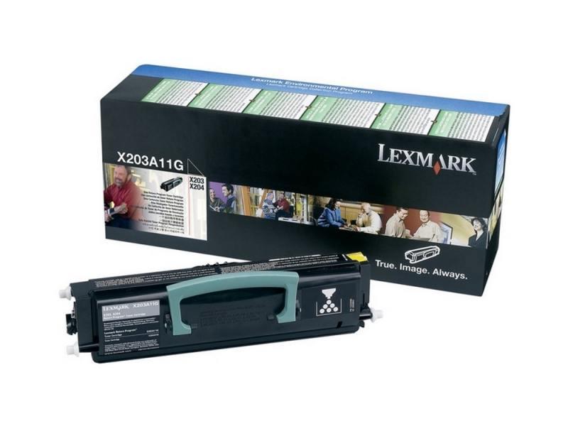 Картридж Lexmark X203A11G для X203n/204n черный
