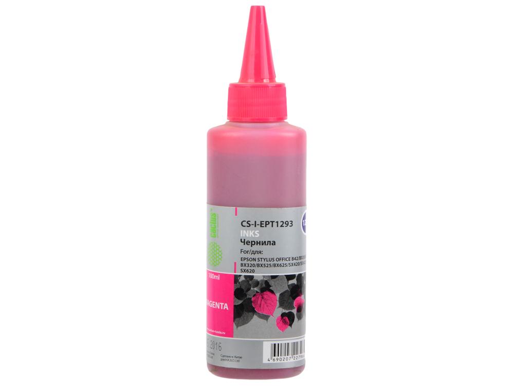 цена на Чернила Cactus CS-I-EPT1293 пурпурный (magenta) 100мл для Epson Stylus Office B42/BX305/BX305F/BX320/BX525