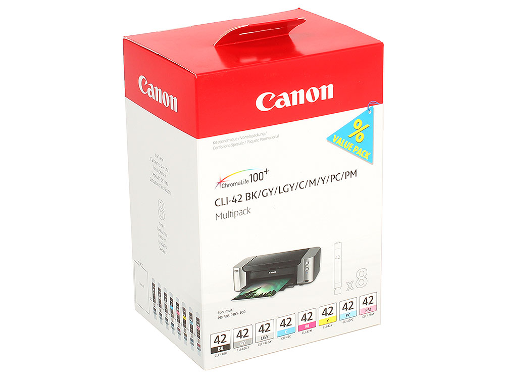 Картридж Canon CLI-42 Multi Pack для PRO-100. 8 чернил. картридж для pod систем n1 pack мята