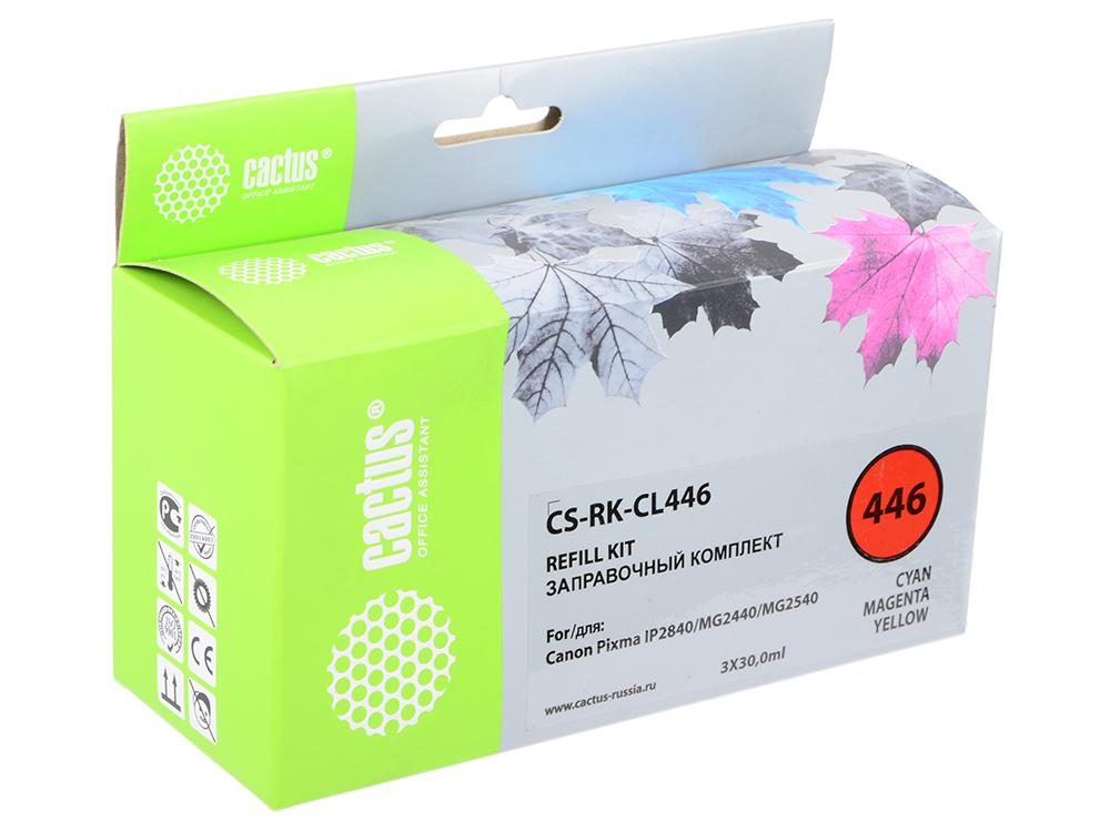 Заправка Cactus CS-RK-CL446 для Canon Pixma MG2440/MG2541 цветной 90мл заправка cactus cs rk ept2601 для epson home xp 600 черный 60мл